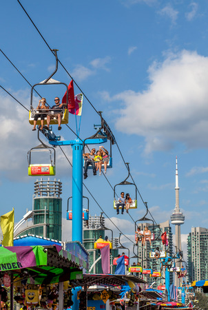 TORONTO, CANADA - AUGUST 17, 2014, Community event at The Ex, Canadian National Exhibition (CNE)  Redakční
