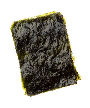 Dry roasted seaweed isolated on white background