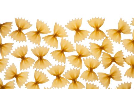 Italian raw pasta farfalle, bow tie, butterfly Reklamní fotografie