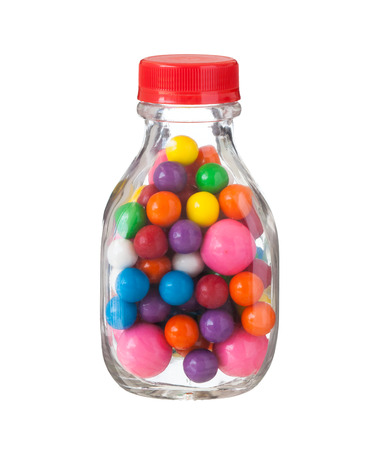 multicolored gumballs: Multicolored gumballs bubble gums, close up Stock Photo
