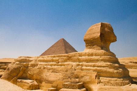 godhead: Sfinx and Pyramid in Cairo