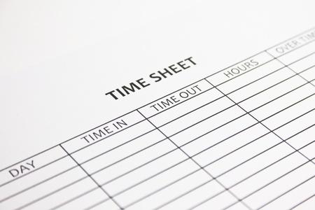 customer records: Time Sheet Stock Photo