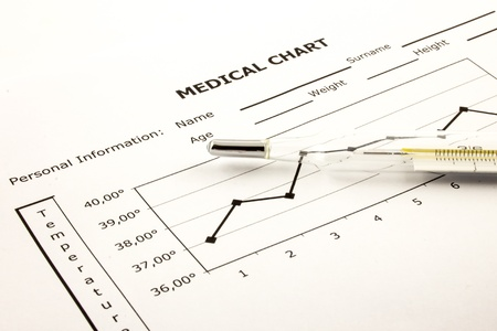 Medical Chart with temperature graphic Stock Photo - 12036111