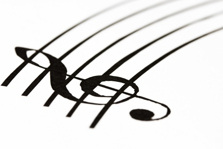 Music sheet with treble clef photo