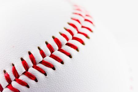 A particular of a baseball ball Stock Photo