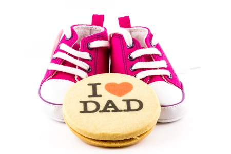 I love you dad with little shoes photo