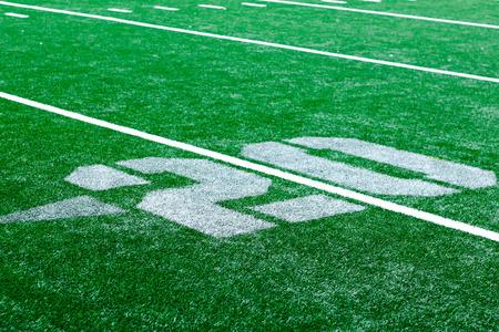 yardline: 20 yard turf american football - redzone