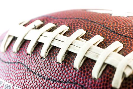 american football background: American footbal ball close up Stock Photo
