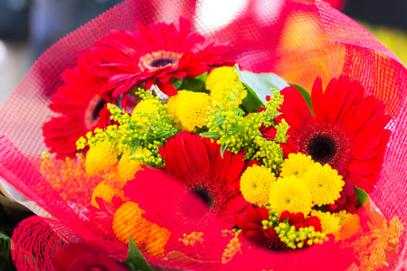 Red and Yellow flowers bouquet