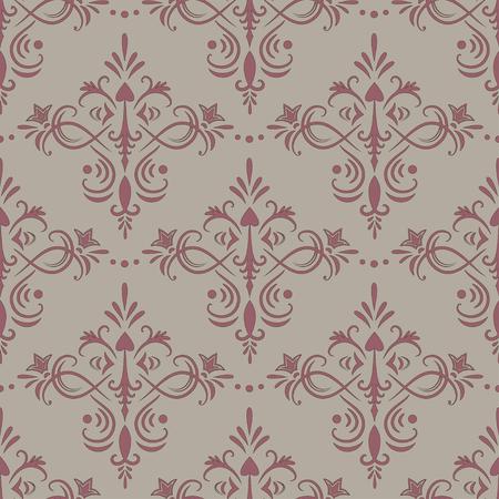 Seamless ornamental wallpaper. Vector illustration