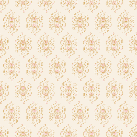 Seamless pattern on light beige background. Vector illustration Illustration