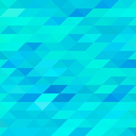 Abstract Blue Triangle Mosaic Background. Vector illustration Vecteurs