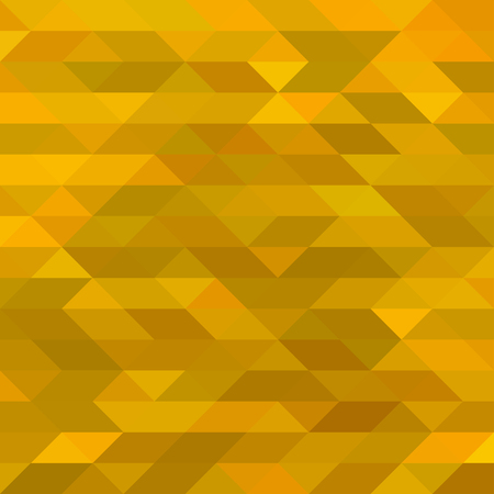 Abstract Yellow Triangle Mosaic Background. Vector illustration  イラスト・ベクター素材