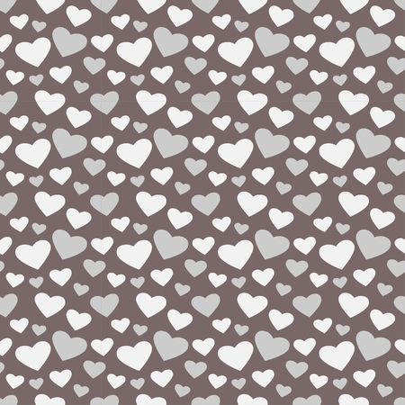 Vector illustration of cute repeated pattern with hearts