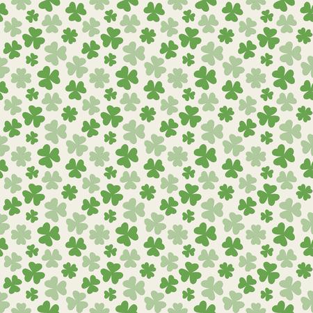 Vector illustration of clover leaves seamless pattern for St. Patricks Day