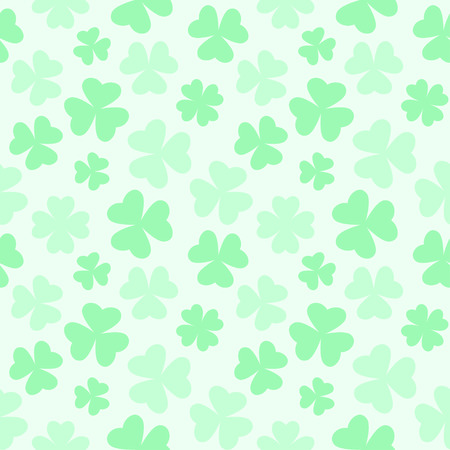 Vector illustration of gentle pastel colored repeating clover pattern