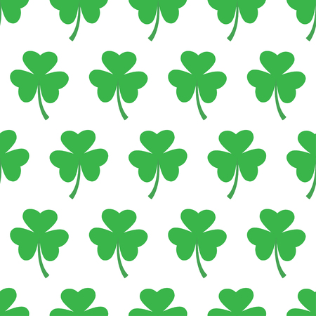 Vector illustration of repeating clover pattern on white background