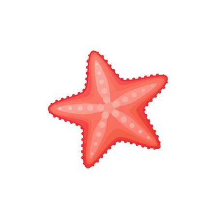 Cute cartoon starfish icon. Vector illustration isolated on white background