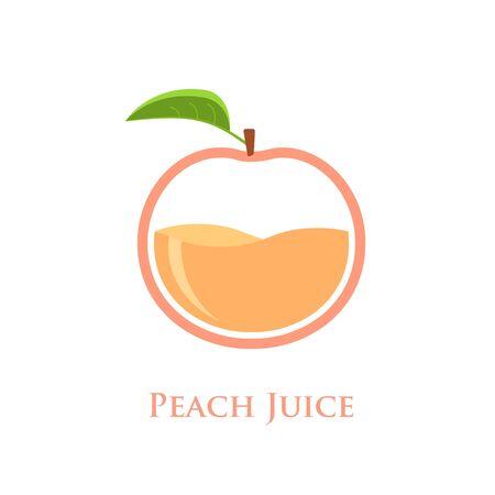 Peach juice design concept vector illustration