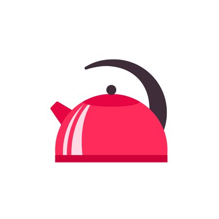 Kettle icon in flat style vector illustration