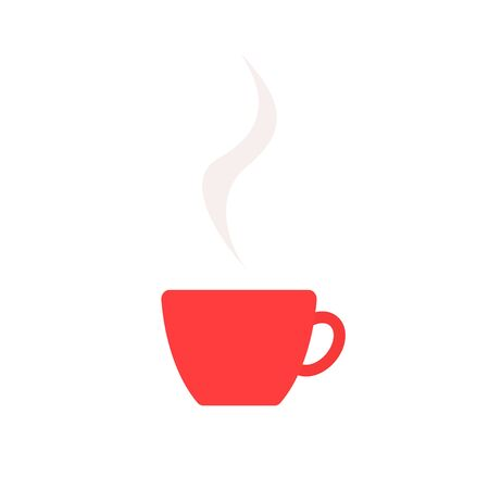 Coffee cup simple icon in flat style