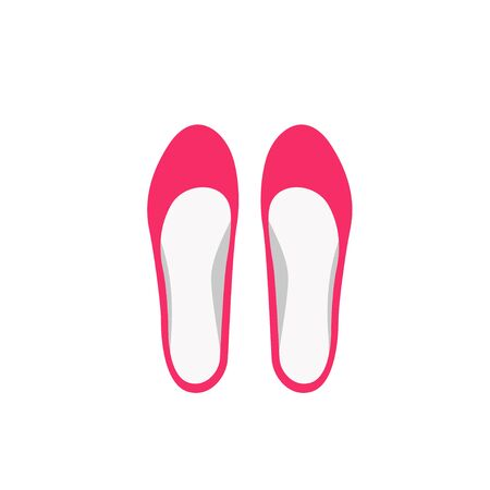 Ballerina flats in flat style vector illustration Vettoriali