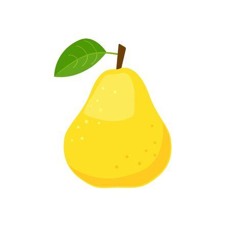 Yellow pear icon flat design vector illustration Illusztráció