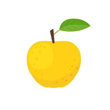 Yellow apple icon flat design vector illustration