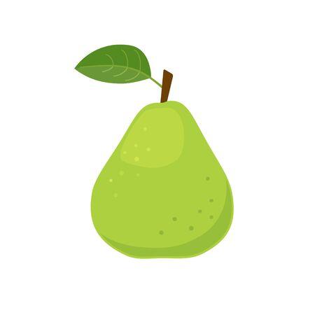 Green pear icon flat design vector illustration Illusztráció