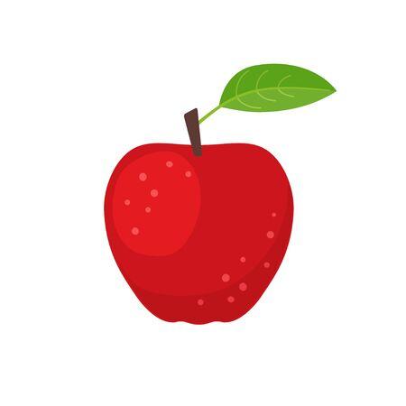 Red apple icon flat design vector illustration Illusztráció
