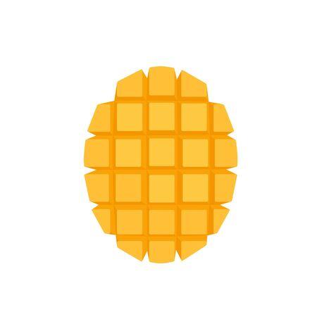 Mango cubed slice icon in flat style Stock fotó