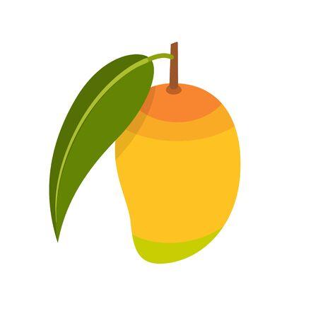 Mango fruit icon flat design vector illustration