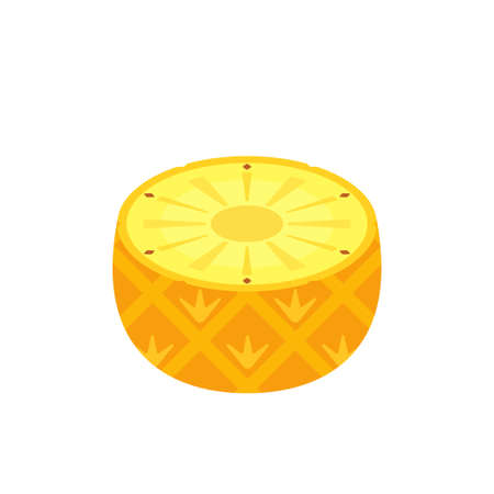 Half pineapple icon flat design vector illustration