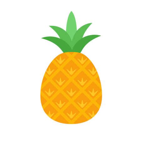 Pineapple fruit icon flat design vector illustration