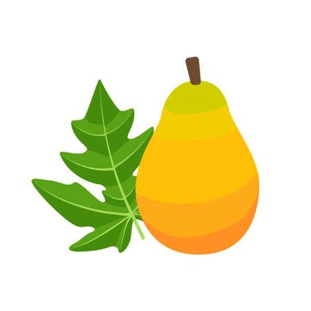 Papaya fruit icon flat design vector illustration Illusztráció