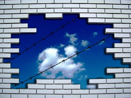 constraint: view on the sky Stock Photo