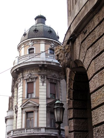 beautiful bildings in the centre of belgrade photo