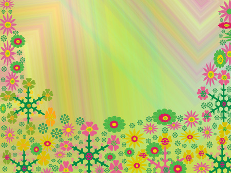many flowers Vector