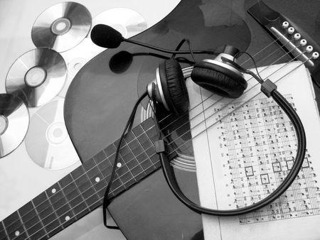 estrofa: guitarra Foto de archivo