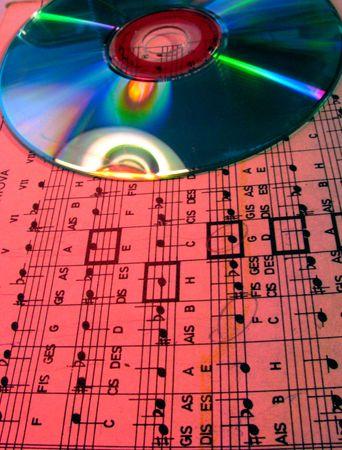 estrofa: la m�sica en papel � m�sica en dvd  Foto de archivo