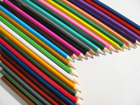 colored crayons Stock Photo - 3113394