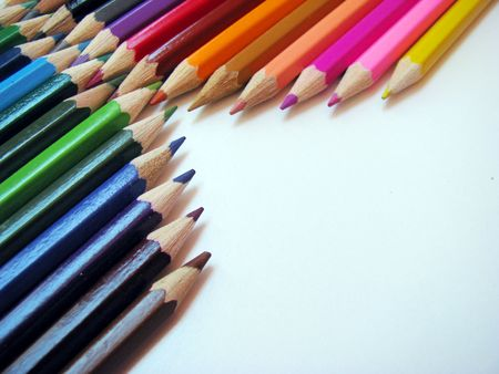colored crayons photo