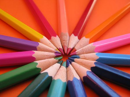 colored crayons Stock Photo - 3217630