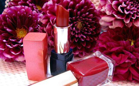 lipstick and nailpolish photo