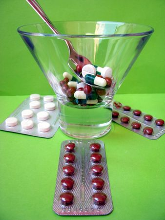 pills in the glass Stock Photo - 3369279