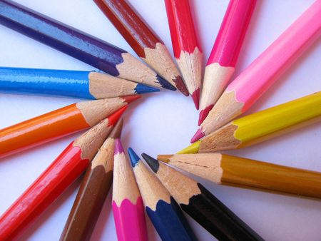 immaculate: colored pencils Stock Photo