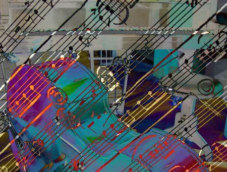 estrofa: la m�sica en colores  Foto de archivo
