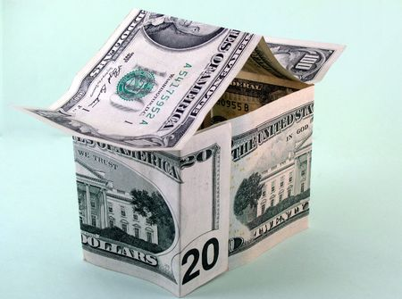 house made of dollars Stock Photo - 3585509