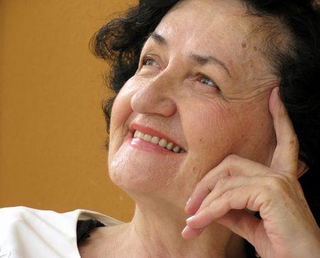 smiling lady Stock Photo