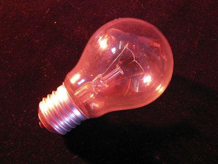 red lightbulb Stock Photo - 3738809